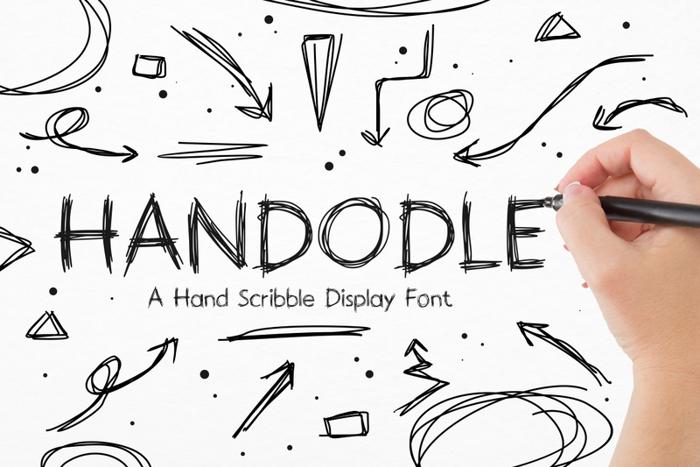 Handodle Font poster