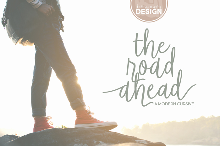 The Road Ahead Font poster