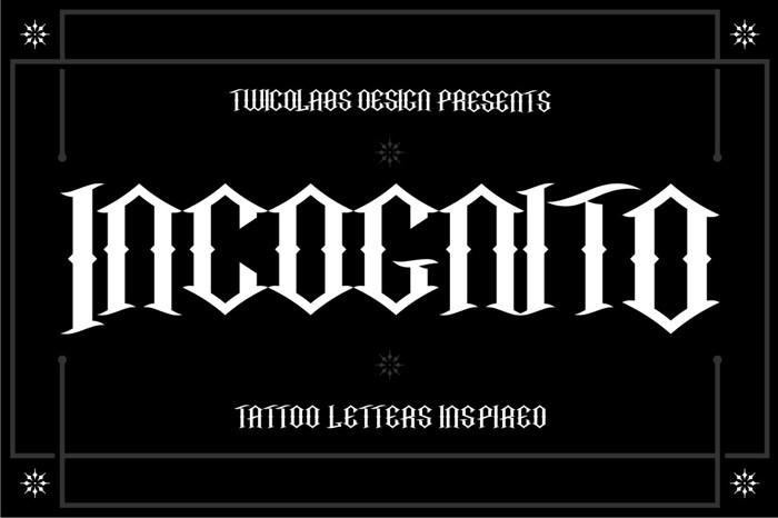 Incognito Font poster