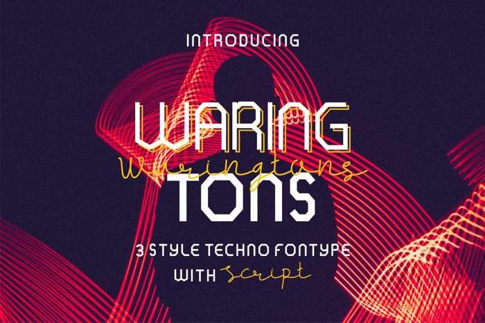 WARINGTONS Font poster