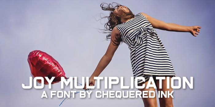 Joy Multiplication Font poster