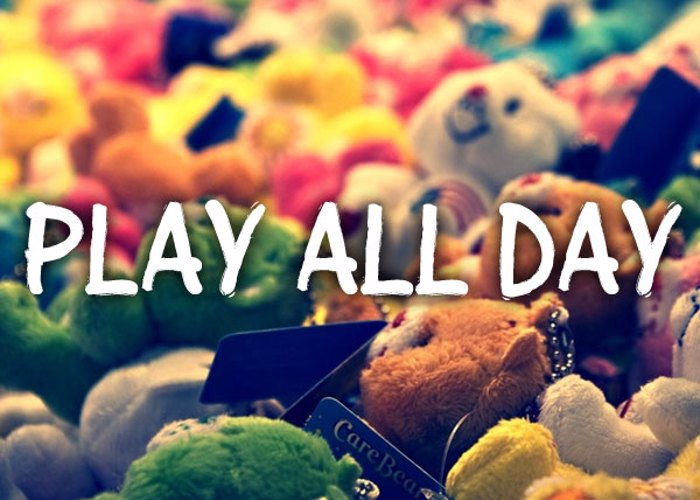 Play all day Font poster