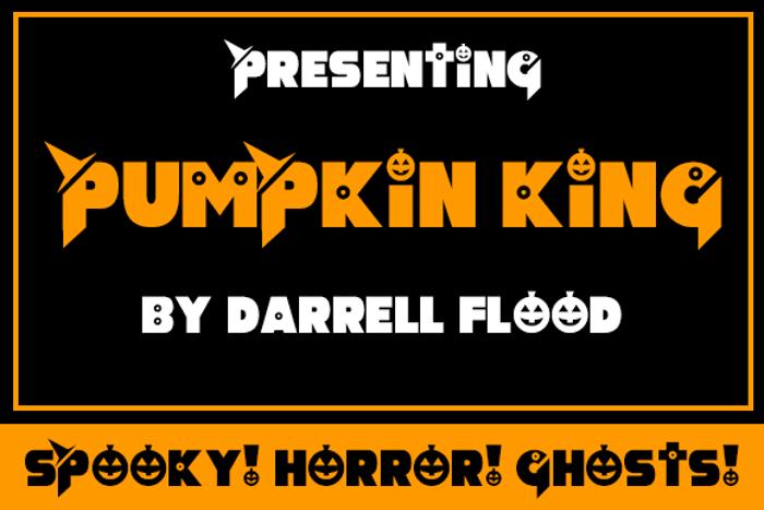 Pumpkin King Font poster