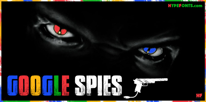 Google spies Font poster