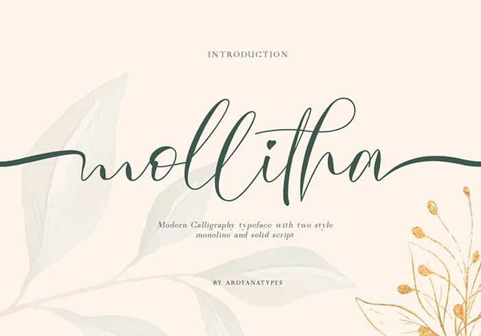 Mollitha Font poster
