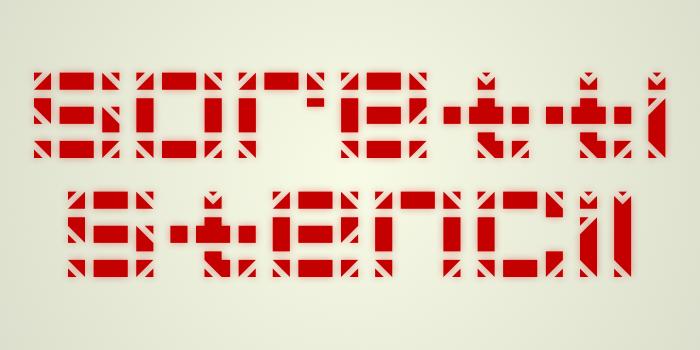 Soretti Stencil Font poster