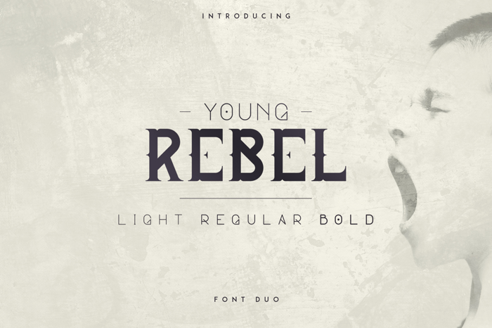 YOUNG REBEL FONT poster