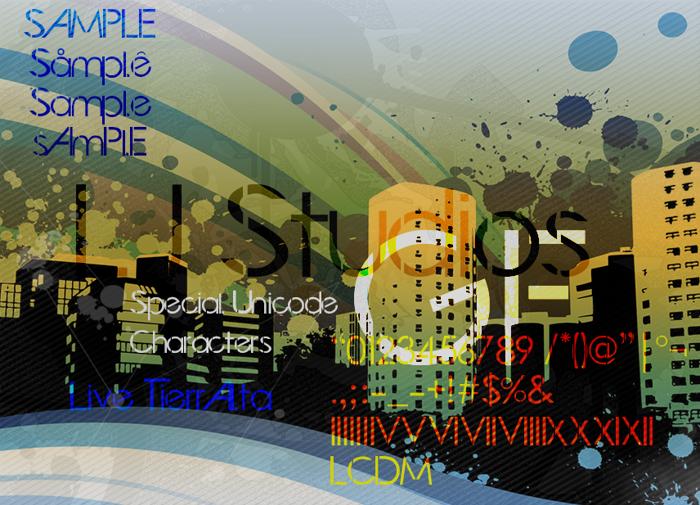 LJ Studios GF Font poster