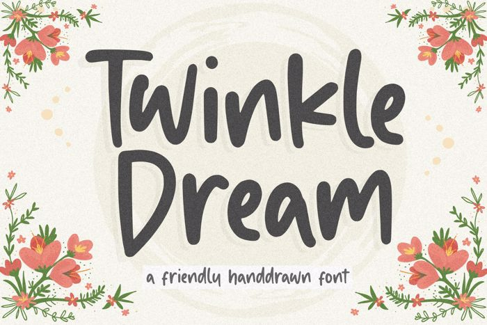 Twinkle Dream Font poster
