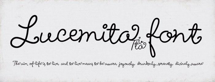 Lucemita Font poster