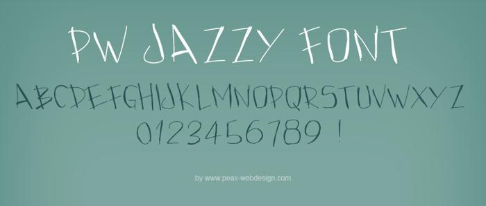 PWJazzy Font poster