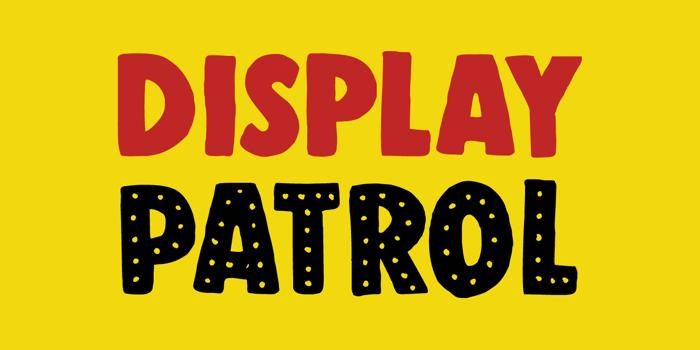 DK Display Patrol Font poster