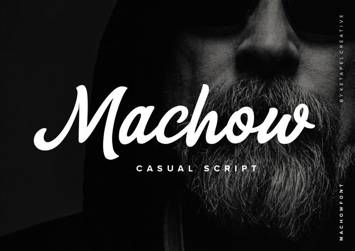 Machow Font poster