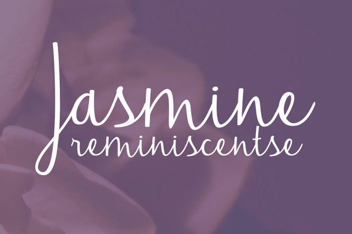 Jasmine Reminiscentse Font poster