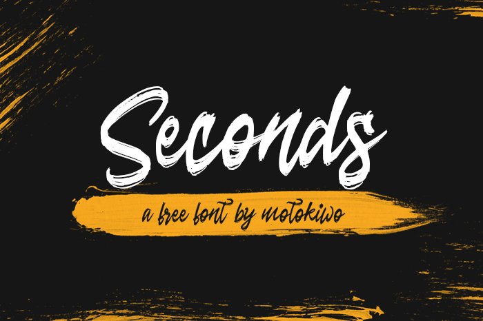 Seconds Font poster