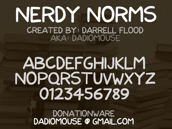 Nerdy Norms Font poster