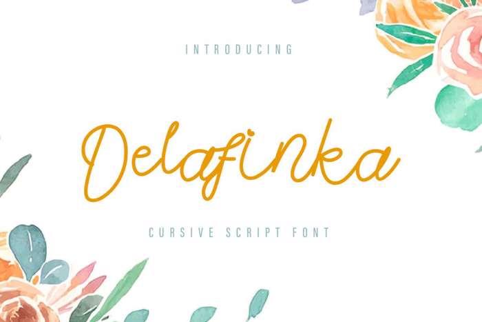 Delafinka Font poster