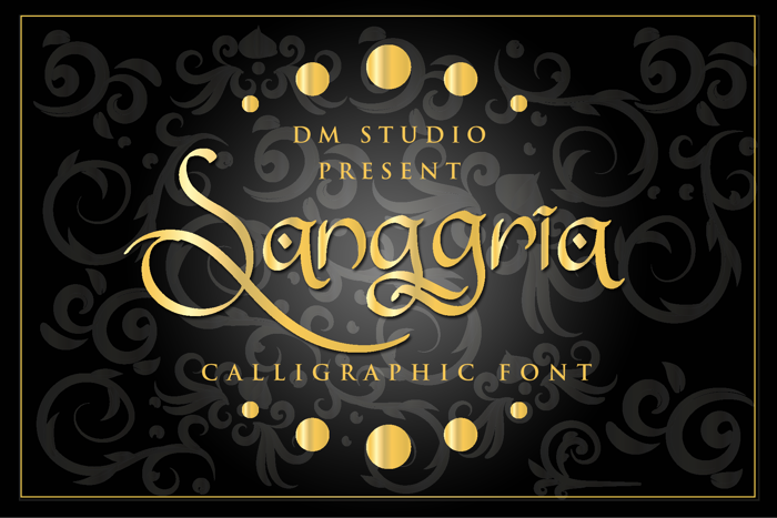 Sanggria Font poster