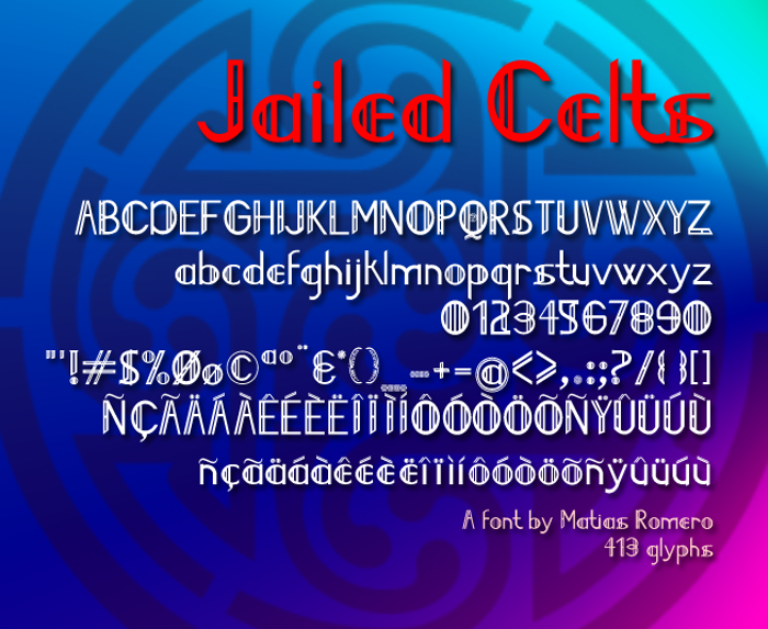 Jailed Celts Font poster