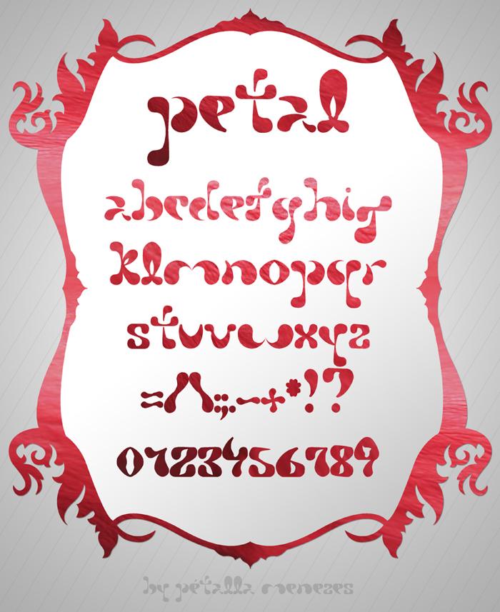 Petal Font poster