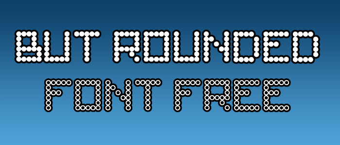 But Rounded Font poster