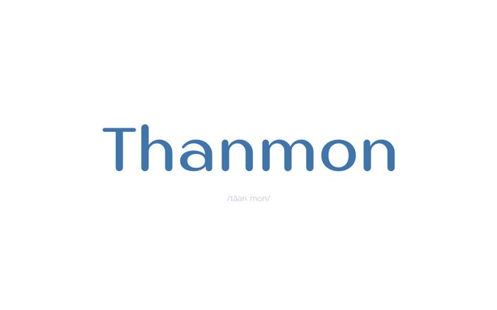 Thanmon Font poster