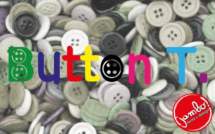 Button T. Font poster