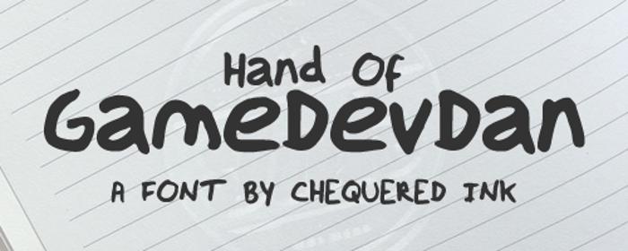 Hand Of GameDevDan Font poster