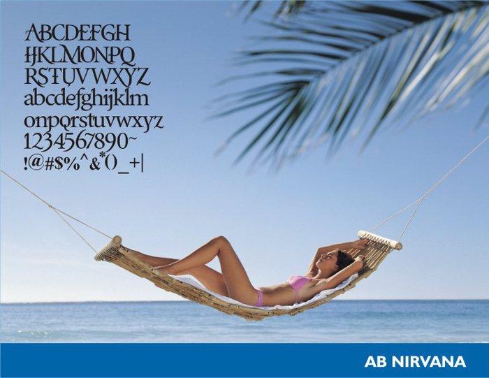 AB Nirvana* Font poster