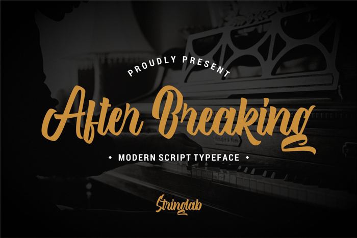 After Breaking Font poster