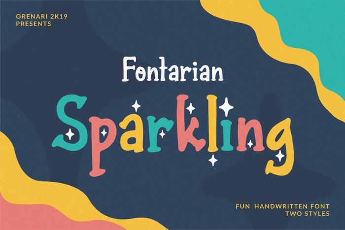 Fontarian Sparkling Font poster
