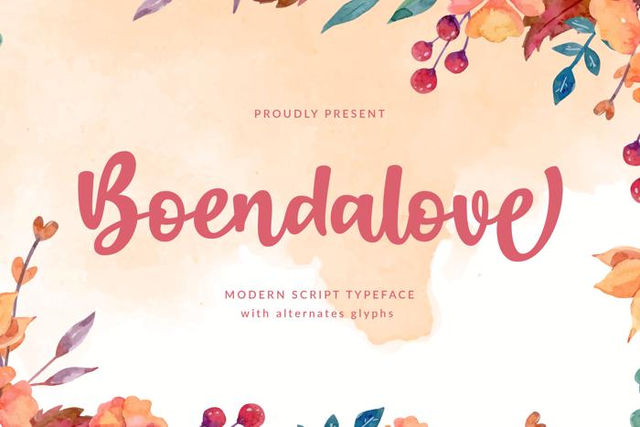 Boendalove Font poster