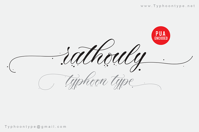 Rathouly - Font poster
