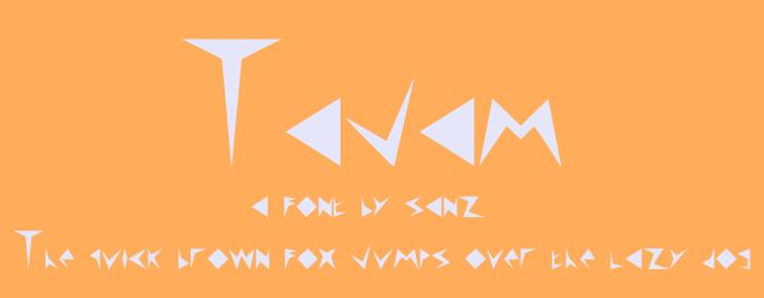 Tajam Font poster