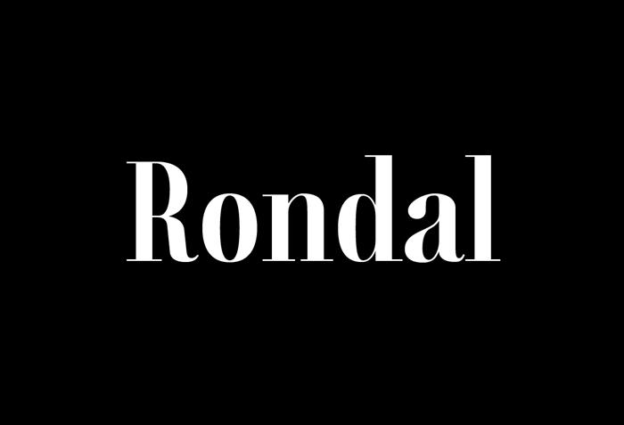 Rondal Font poster