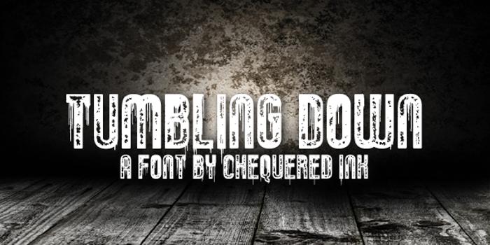 Tumbling Down Font poster