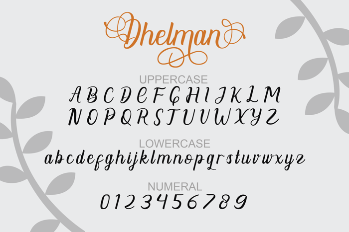 Dhelman Font poster