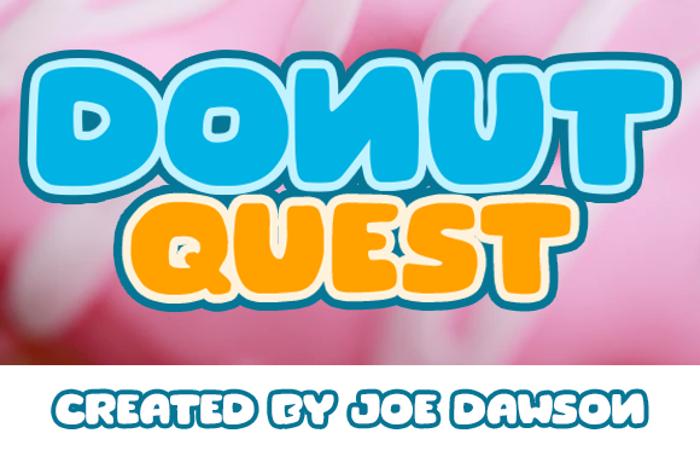 Donut Quest Font poster