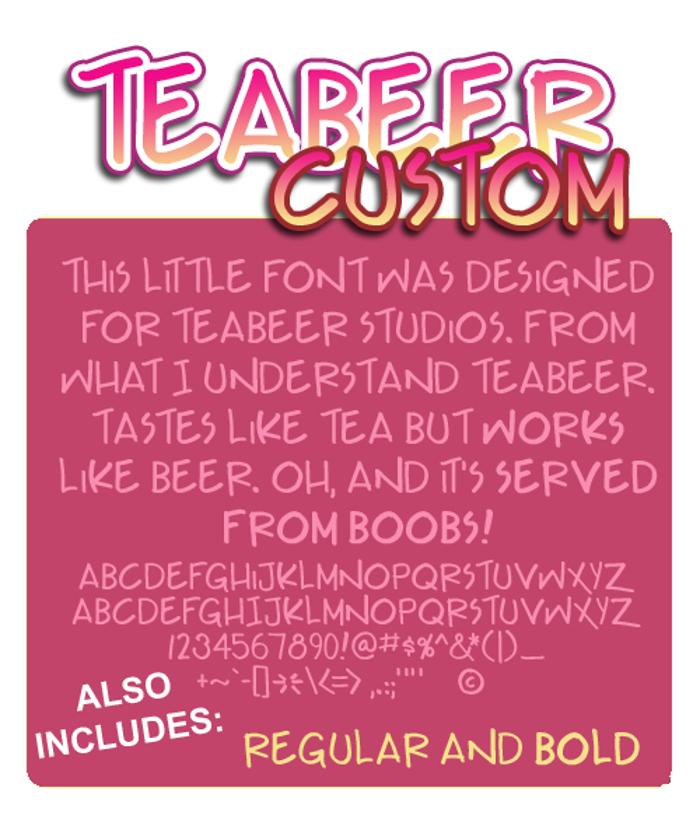 Teabeer Custom Font poster