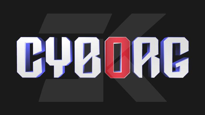 DC Cyborg Font poster