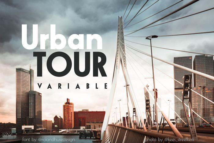 Urban TOUR variable Font poster