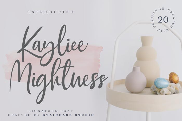 Kayliee Mightness Font poster