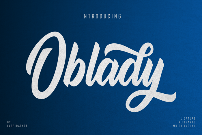 Oblady Font poster