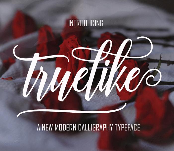 Truelike Font poster