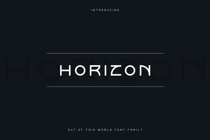 Horizon Font poster