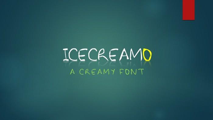 Icecreamo Font poster