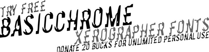 BasicChrome Font poster
