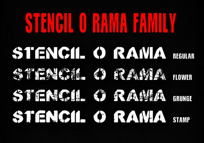 CF Stencil O Rama Stamp Font