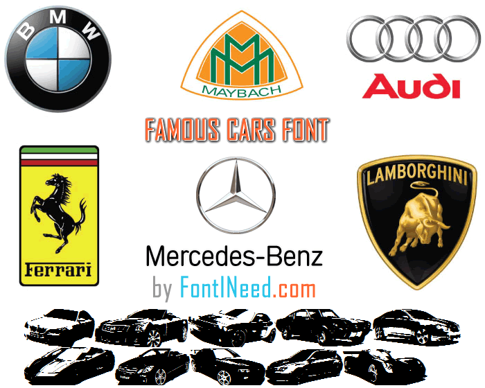 Famous Cars Font poster