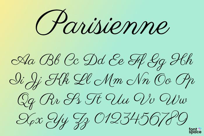 Parisienne Font poster